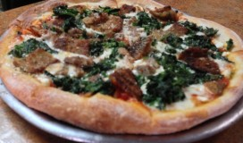 Pizza with Rapini